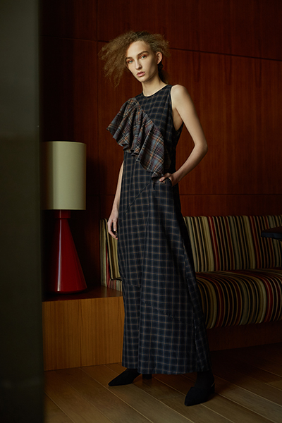 checkered dress, kage home, arab fashion brand, dubai based fashion trust arabia