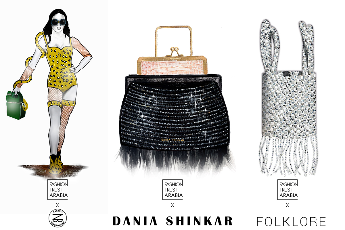 Sketches of bags from young arab designers